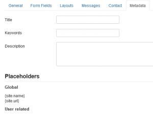 Metadata tab