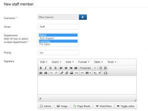 Staff Members - Add a New Member