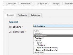 User groups in RSFeedback!
