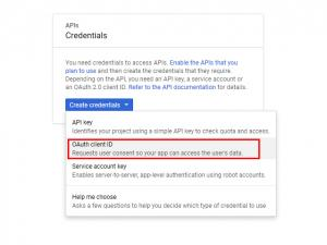 RSSeo! Google Api Console - OAuth credentials