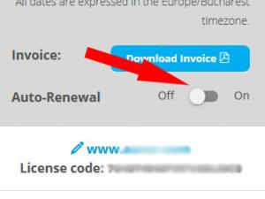 Disable Auto-Renewal