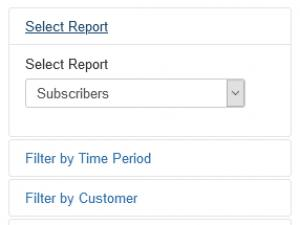 Reports filters