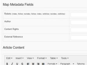 RSForm!Pro Joomla! articles plugin - article metadata fields