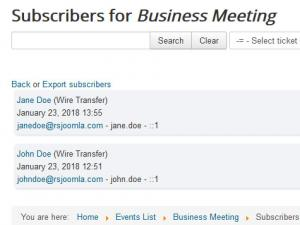 Frontend subscribers