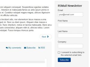 RSMail! Subscribe Module frontend