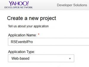 Configuring a Yahoo application