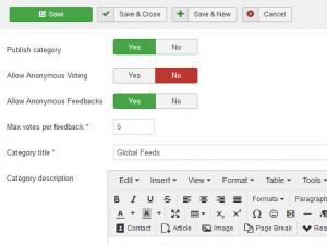 Adding a new feedback category
