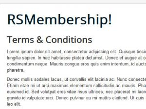 Terms and Conditions menu item
