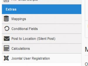 Click on the left Registration tab under Form Properties