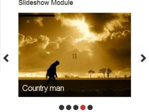 Advanced slideshow module frontend