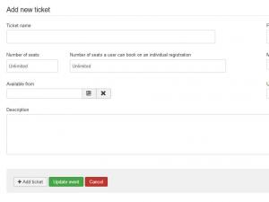 Add new ticket tab