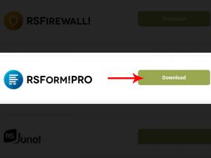 Download RSForm! Pro from our website