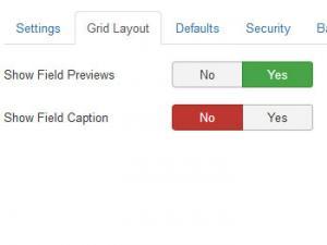Grid Layout tab