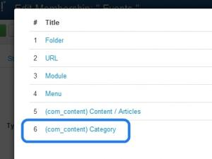 Select the shared content type