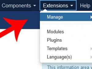Go to Extensions > Manage