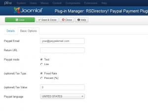 Pay Pal plugin configuration
