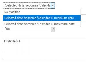 Using the Date Modifier in Calendar or Date Time Picker