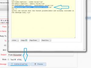 Toggle the source code of the email body to copy the exact text needed to be replaced.