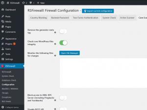 RSFirewall! Core Scanner