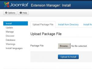 Upload installation package