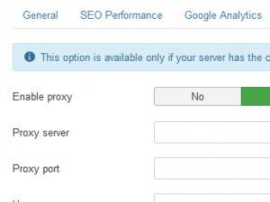 cURL proxy tab
