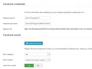 RSEvents!Pro Synchronization tab