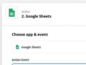 Create a Spreadsheed Row event