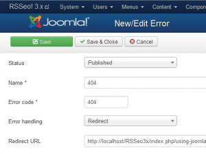 Edit error page