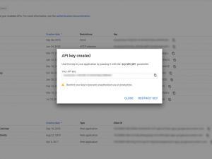 RSFirewall! Google Web Risk API key