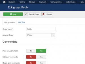 Public group permissions