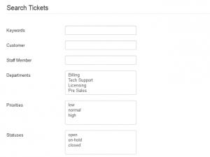 Backend Ticket Search