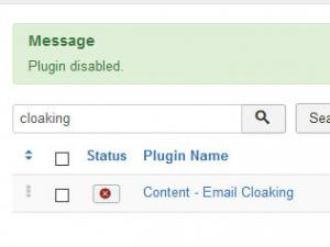 Disable the ontent - Email Cloaking plugin