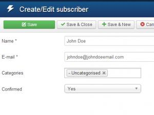 RSBlog! Create/Edit subscription view