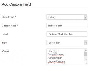 Edit or Create Custom Field