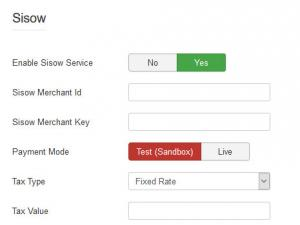 iDeal Sisow configuration settings.