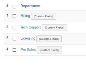 Department listing