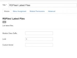 RSFiles! Latest Files Module