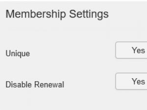 Membership settings