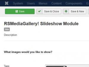 RSMediaGallery! Slideshow Module configuration