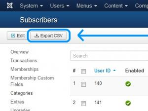 Exporting subscribers
