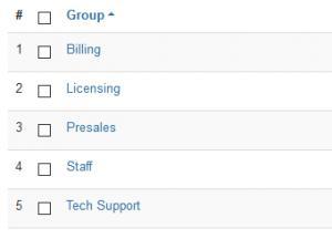 Staff Group Listing