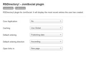 JomSocial Plugin Configuration