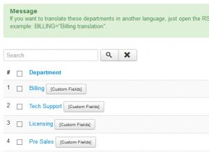 Backend Departments Listing