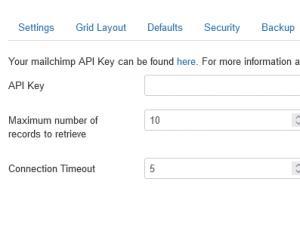 RSForm!Pro > mailchimp configuration settings
