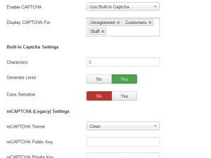 RSTickets!Pro CAPTCHA Configuration