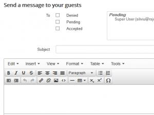 Send a Message to Your Guests