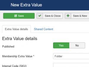 New extra values