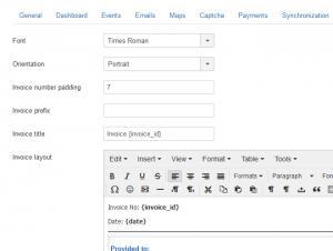 Global Invoice configuration