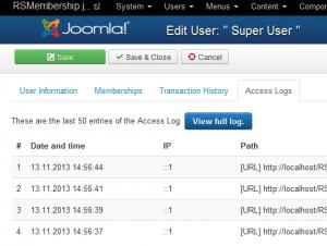 Access logs - URLs