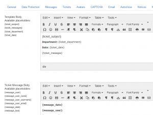 Article template configuration